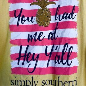 Simply Southern yellow Ya'll shirt - XL